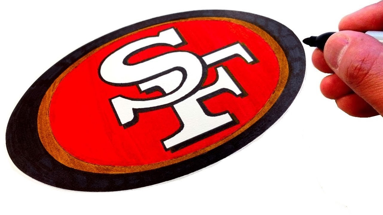 How To Draw The San Francisco 49ers Logo Youtube