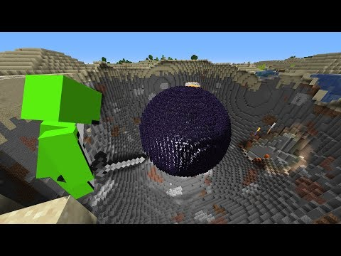 Minecraft, But A Black Hole Grows Every Second...