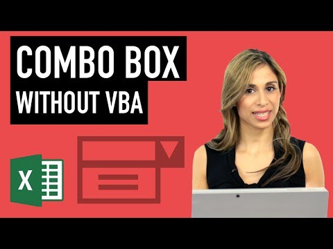 Excel Combo Box Without VBA - How To Create A Drop-down List