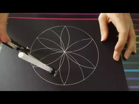 How to draw a flower of life mandala | Full video