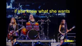 the bangles if she knew what she wants karaoke