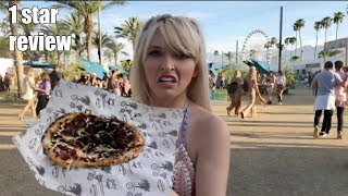 EATING AT THE WORST RATED FOOD STAND IN COACHELLA *VIP*