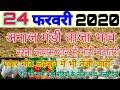 24 फरवरी 2020 अनाज मंडी ताजा भाव,  नरमा कपास ग्वार में तेजी, Paddy bhav today, mandy bhav today