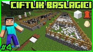 Minecraft Çiftlik Yapımı ve Şeker Kamışları Minecraft Survival Türkçe Bölüm4 (1.12.2)