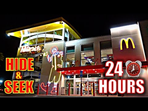 Thumbnail: 24 HOUR OVERNIGHT CHALLENGE IN WORLD'S BIGGEST MCDONALDS!!(*HIDE & SEEK*)