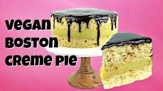 Vegan Boston Creme Pie || Gretchen's Vegan Bakery