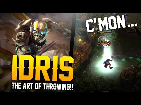 Vainglory - Road to Vainglorious [Gold]: THE ART OF THROWING!! Idris |CP| Lane Gameplay