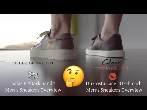 On Feet Clarks UN COSTA LACE Ox-blood Vs Tiger Of Sweden Salas P Dark Sand In 4K By #EasyLifeES