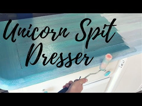 Turquoise Stain UNICORN SPIT Dresser