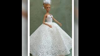 Прекрасные свадебные  платья для Барби.