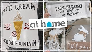 Spring 2019 Farmhouse & Easter Home Decor   At Home Decor Superstore Shop With Me + Haul