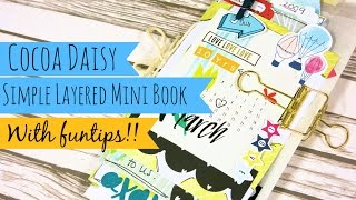 Cocoa Daisy // Easy Mini Book // Tutorial