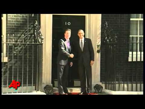 Raw Video: Obama Arrives at 10 Downing Street