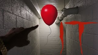FOLLOWING PENNYWISE BALLOON * DO NOT FOLLOW PENNYWISE BALLOON* OMG!!!! Video