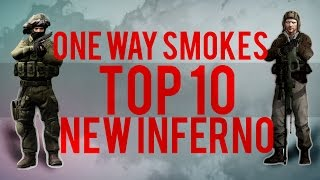 [NEW]TOP 10 One Way Smoke INFERNO + BONUS | CS GO