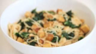 Vegnews Tv: Quick Kale Tofu Pasta