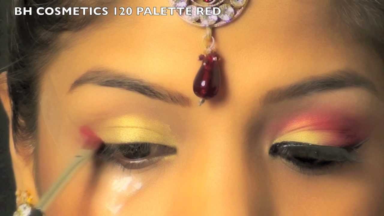 Indian Bridal Wedding Makeup Tutorial Gold Red Eye Makeup For Indian Bride Superprincessjo