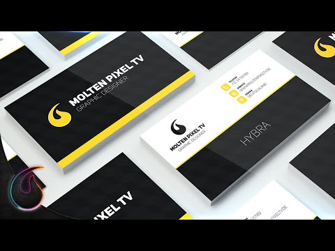 Visitenkarte Erstellen Photoshop Tutorial Full Hd Molten Pixel Tv