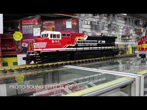 MTH G Scale Norfolk Southern Dash 8 Diesel First Responders and Honoring Veterans
