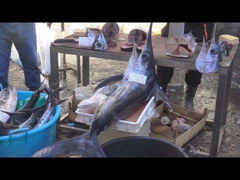 La Pescheria Mercado De Pescado De Catania Sicilia Italia 30/7/2019