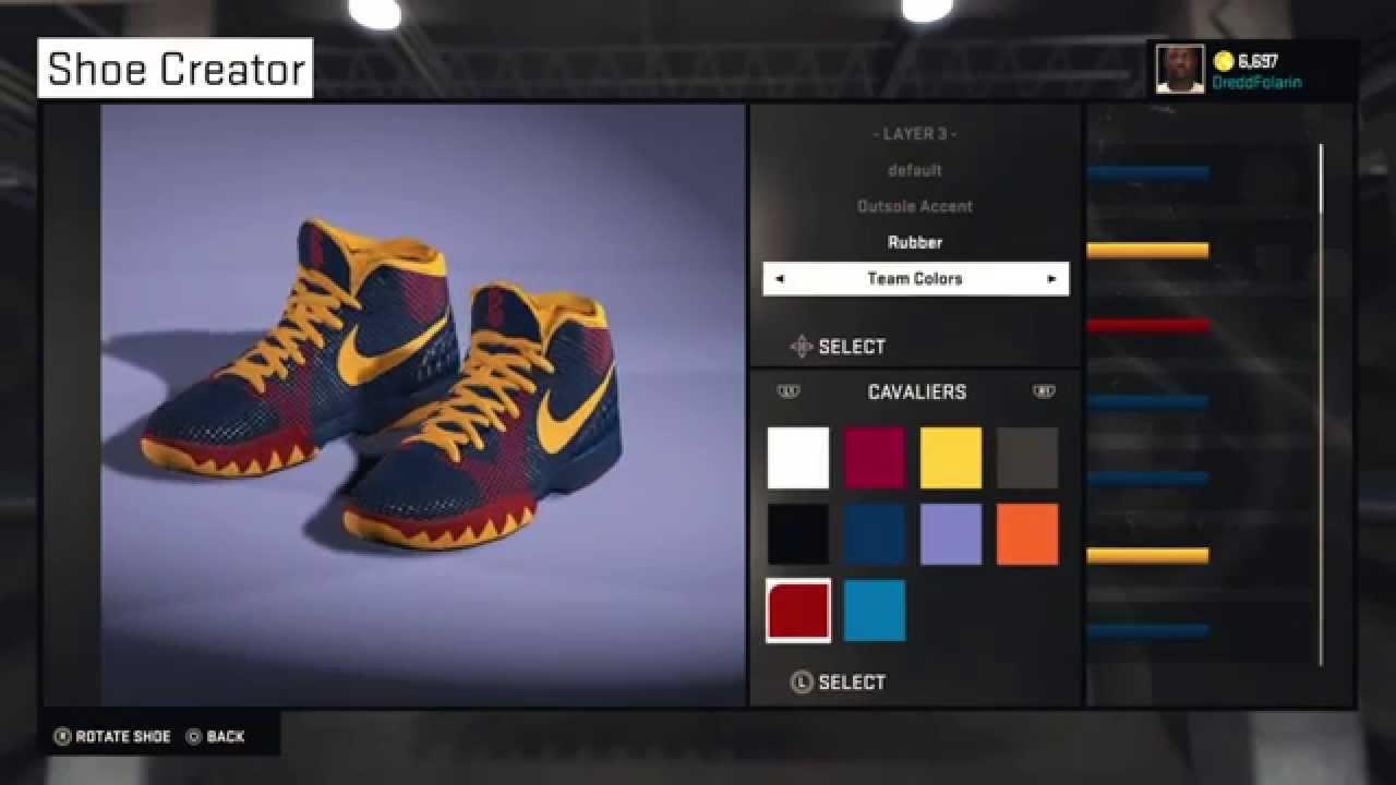 f45f38e7318e 57 Points Nike Kyrie 1 for NBA 2K15 - YouTube