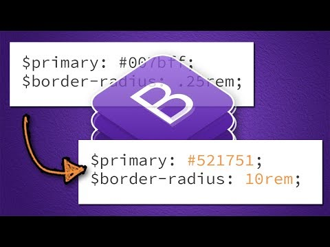 Bootstrap 4 Theme Customization (with Sass)   BOOTSTRAP 4 TUTORIAL