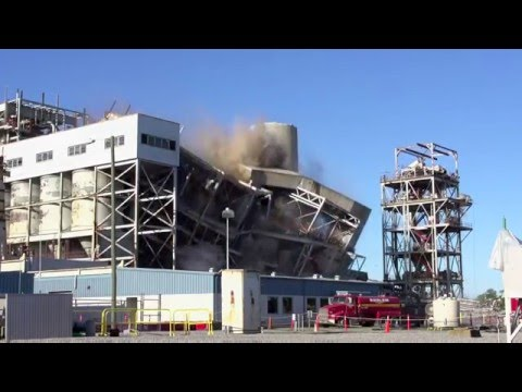 Sutton Plant Boiler #1 and Precipitator #1 Implosion - Wilmington, NC - April 10, 2016