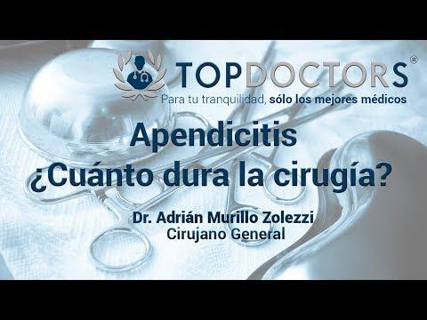 Cuanto dura una operacion de apendicitis
