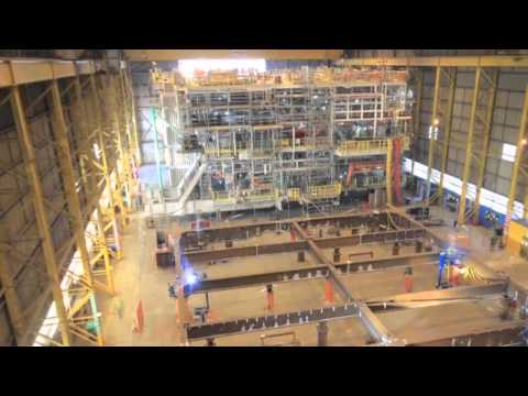 Fabrication Cygnus Alpha Wellhead topside at Heerema Hartlepool