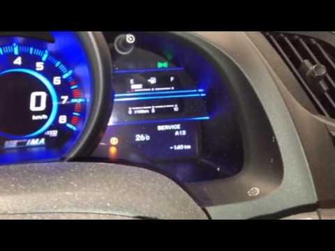 Reset Oil Life 2014 Honda Cr Z Youtube