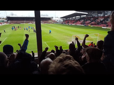 Tranmere Fans At Wrexham | We're On Our Way | 01/04/17