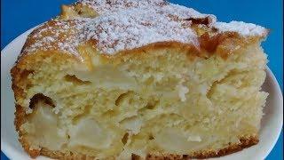 Пышная ШАРЛОТКА на кефире! Шарлотка с яблоками! Быстрый пирог! Простой Рецепт! Простые Рецепты