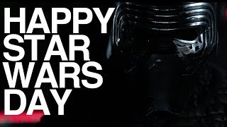 KYLO REN REACTS to Star Wars Day (Bonus Unboxing)