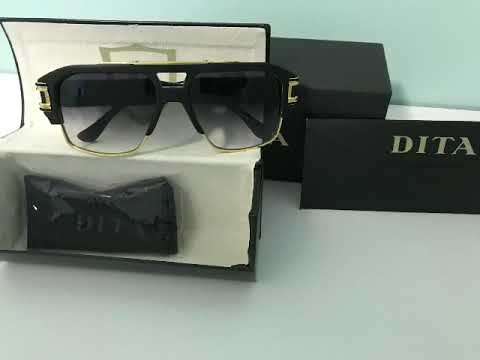 a37dc187b8f1 DITA GRANDMASTER FOUR DRX 2060 A BlK-GLD 58 18K GOLD SUNGLASSES 100%  Authentic