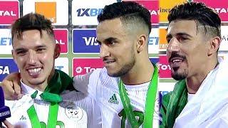 لقاءات مع لاعبي منتخب الجزائر بعد الفوز على السنغال والتتويج بلقب كأس أمم أفريقيا 2019