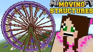 Minecraft: MOVING STRUCTURES (REAL MOVIE THEATER, BUSES, BOATS, & FERRIS WHEEL!) Mod Showcase
