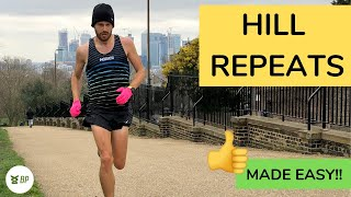 HILL REPEATS RUNNING made EASY - a SIMPLE guide!