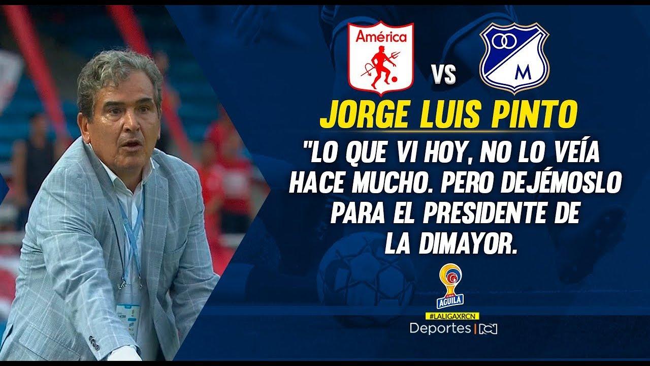 America 1-2 Millonarios: rueda de prensa, Jorge Luis Pinto I Deportes RCN