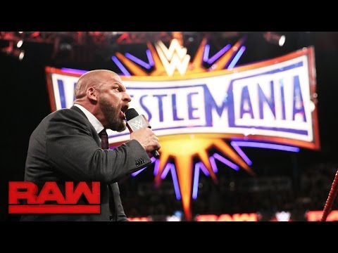 Triple H has an ultimatum for Seth Rollins: Raw, March 20, 2017