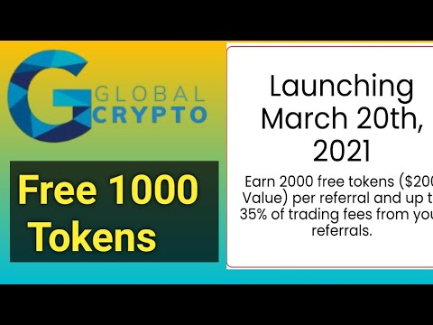 Global Crypto , Free 1000 GCX Tokens