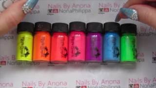 How To Mix Magpie Neon Pigments W/ White Gel-Custom Gel Colours