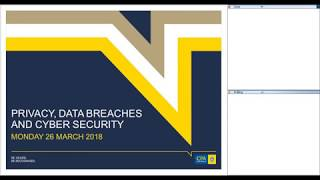 Privacy, Data Breaches and Cyber Security