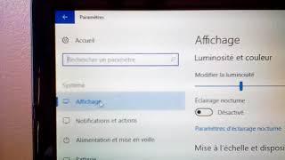 windows 10 ( Option eclairage nocturne )/ tuto FR