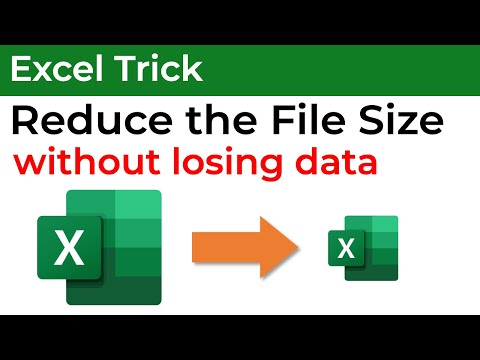 Reduce the excel file size more than 50% without losing DATA - English Ver