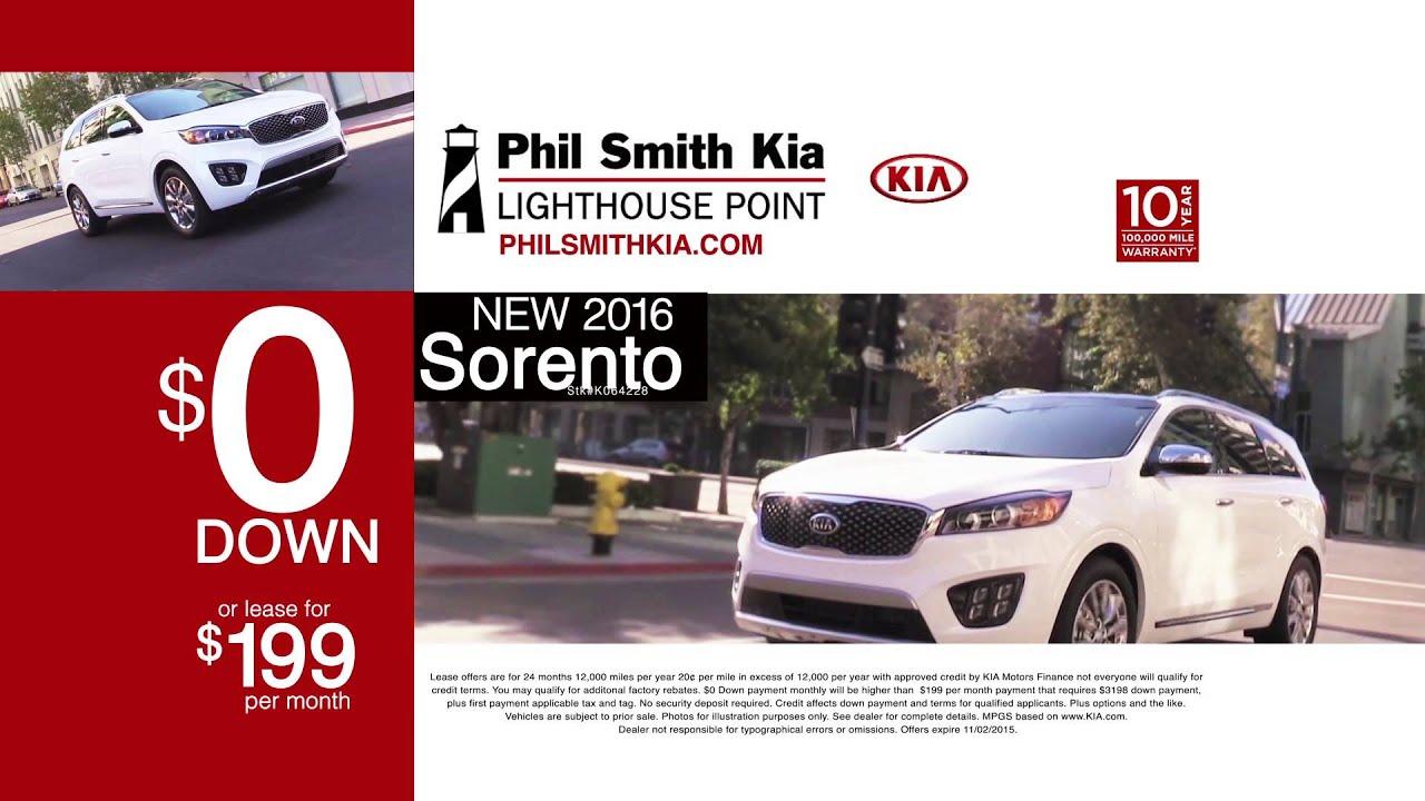 """Phil Smith Kia """"Countdown to Zero Down Sorento"""" 10 2015 Phil"""
