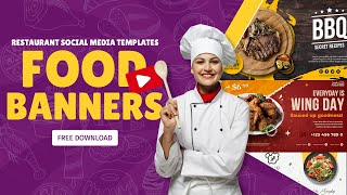 Best Social Media Food Restaurant Banners in PSD | Free Download