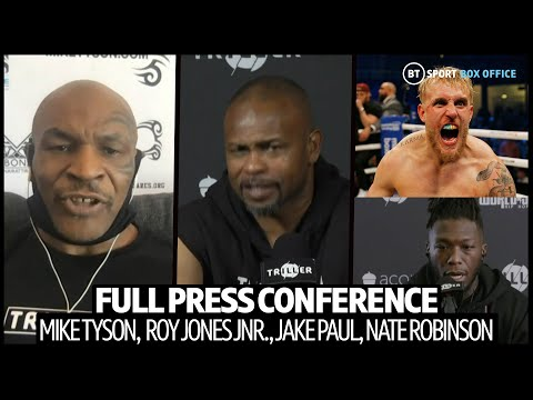 Mike Tyson v Roy Jones Press Conference | Includes Jake Paul and Viddal Riley | Strong Language