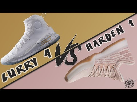 Under Armour Curry 4 vs Adidas Harden Vol. 1!