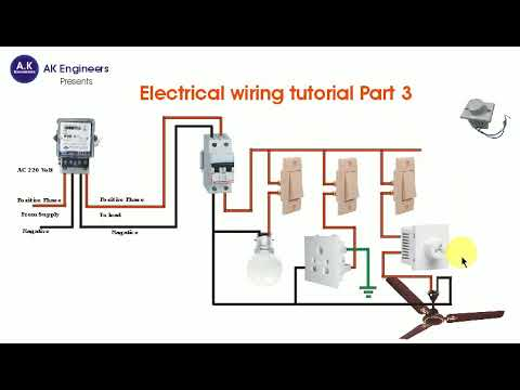 Electrical Wiring Tutorial Hindi Part 3 Switchboard Wiring Connection In Hindi Ak Engineers Youtube