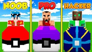 MINECRAFT: NOOB vs PRO vs HACKER 😱 DESAFÍO ÉPICO de LUCKY BLOCKS PIXELMON en Minecraft!